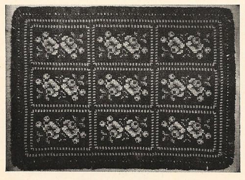 Crocheted Needlepoint Rug pattern