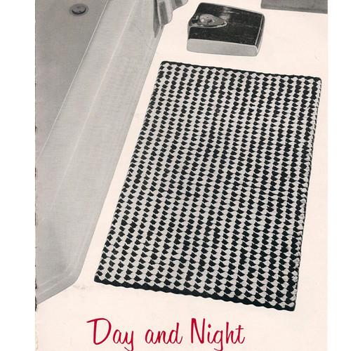Checked Crochet Rug pattern