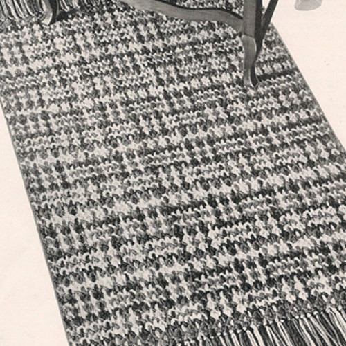 Crochet Rug pattern with Woven Stripes