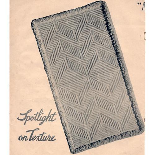 Vintage Textured Rug Crochet Pattern