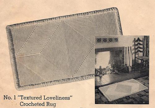 Vintage Crochet Rug Pattern in Diamond Motif