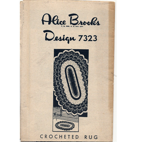 Alice Brooks 7323, Crochet Oval Rug pattern