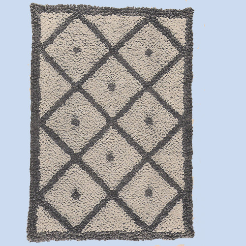 Diamond Crochet Rug pattern, Vintage 1940s