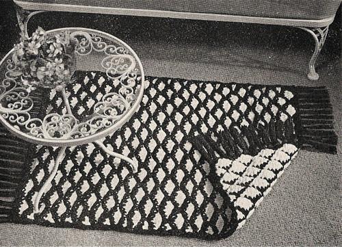 Reverse Checked Rug Crochet Pattern