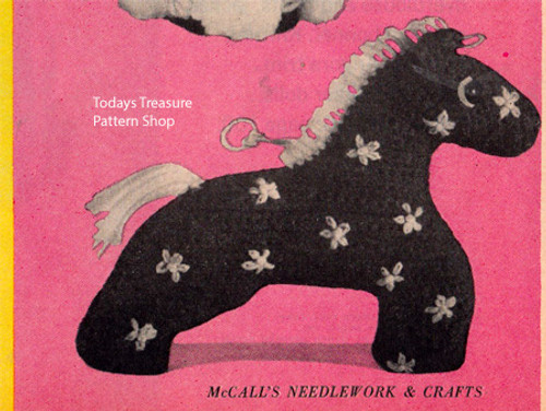 Vintage Crochet Stuffed Horse Pattern