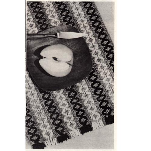 Free Woven Place Mats Crochet Pattern, Coats Clarks Leaflet