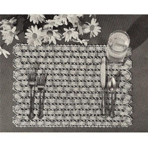 Beginners Lattice Crocheted Placemats Pattern