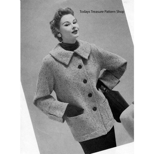 Box Coat Knitting pattern, below hip length