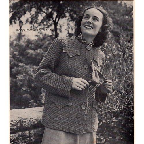Hip Length Coat Knitting Pattern