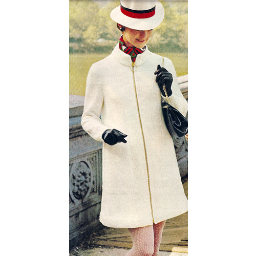 Vintage Knitting Pattern Zipper Coat