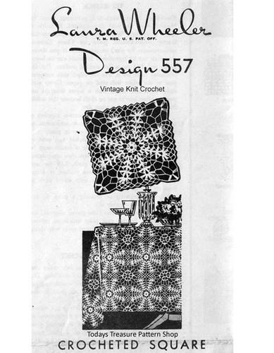 Mail order crochet square pattern, Laura Wheeler 557