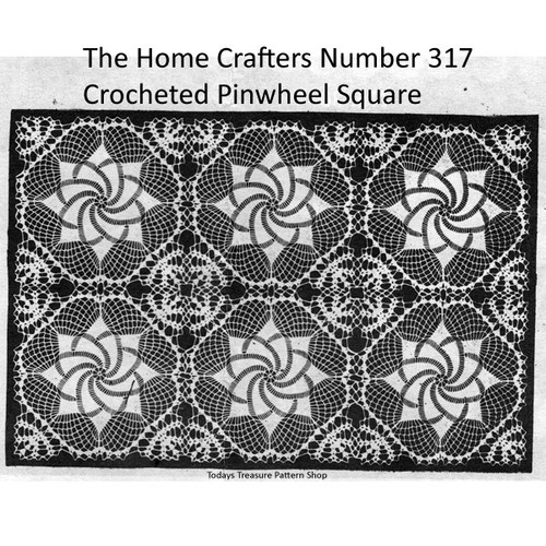 Homecrafters 317, Pinwheel Crochet Square pattern