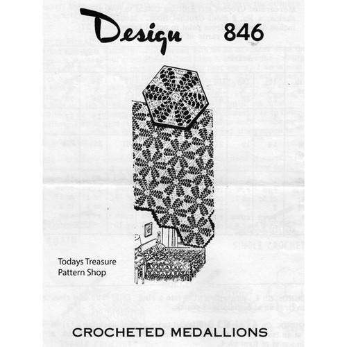 Mail Order Design 846, Crochet Medallion pattern