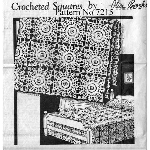 Mail Order Design 7215, Crochet Flower Medallion Pattern
