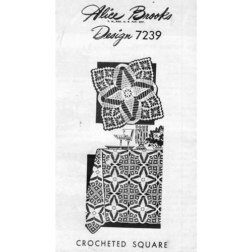 Alice Brooks 7239, Crochet Square Pattern