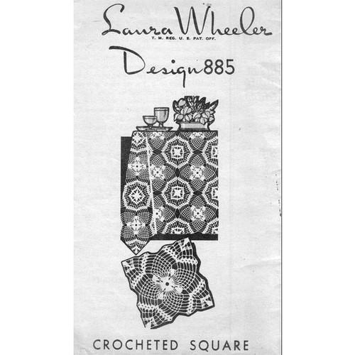 Laura Wheeler 885, Crochet Pineapple Square Pattern