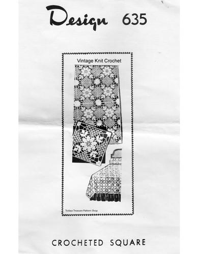 Crochet Flower Bedspread pattern, Mail Order 635