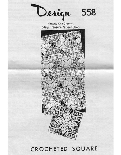 Crochet Tablecloth Square Pattern Mail Order 558