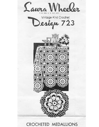Crochet Flower Medallion Pattern, Laura Wheeler 723