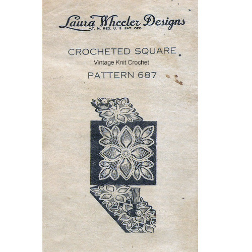 Mail Order Design 6887, Crocheted Pineapple Square Pattern