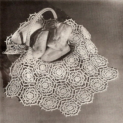 Crochet hexagon winter sky medallion pattern for cloths