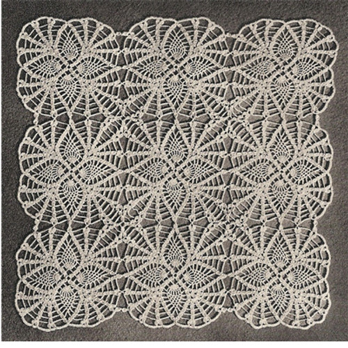 Vintage Crochet Pineapple Squares Pattern for Tablecloth