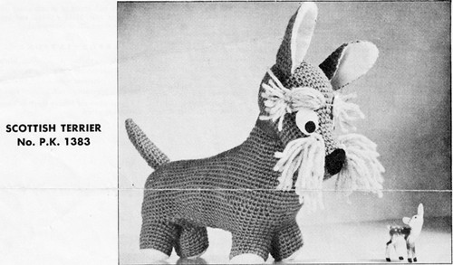 Vintage Crochet Terrier Dog Pattern