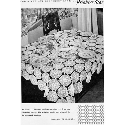 Crochet Brighter Star Medallion Tablecloth Pattern