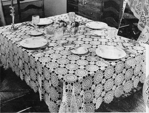 Vintage Summer Sun Crochet Tablecloth pattern