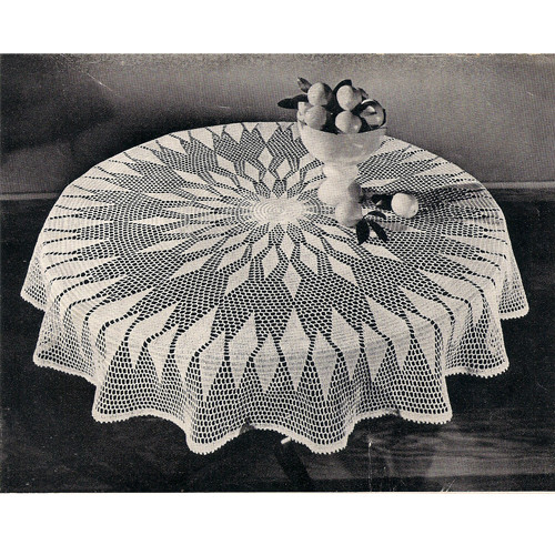 Big Round Crochet Tablecloth Pattern