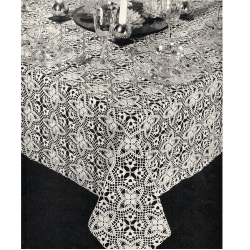 Vintage Lady Bountiful Crochet Tablecloth pattern