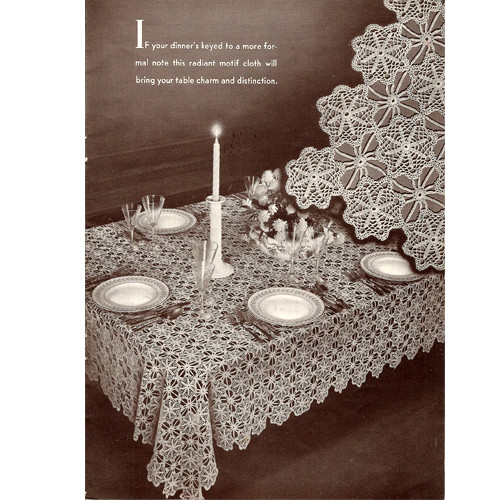 Vintage 1940s Ardmore Crochet Tablecloth Pattern
