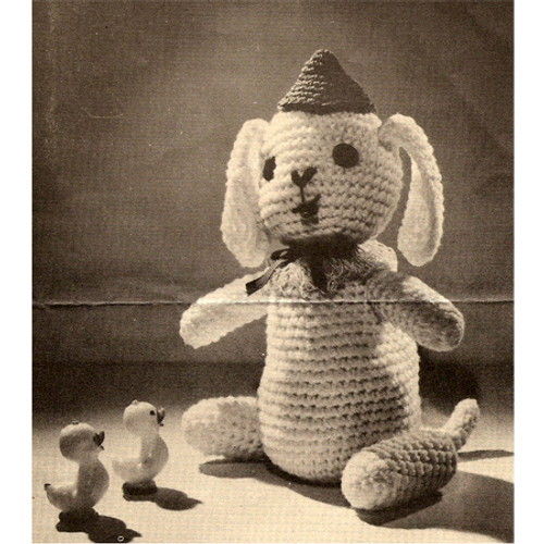Sitting Dog Crochet Pattern