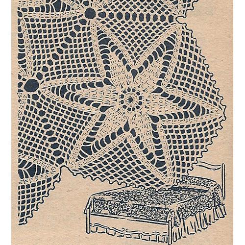 Star Crochet Medallion Pattern, Workbasket Bedspread