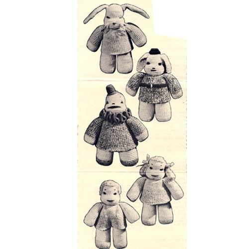 Vintage Crochet Stuffed Toys Pattern