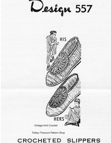 Womens Crochet Slipper Pattern, Scuffs