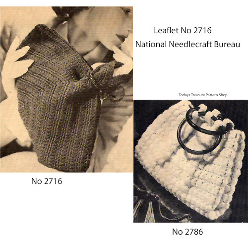 Two Crochet Bags Pattern, National Needlecraft 2716
