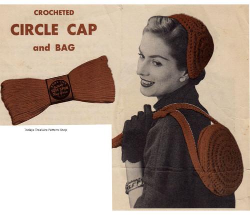 Crochet Circle Cap & Bag Pattern