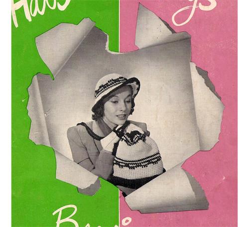 Crochet Brim Hat & Drawstring Bag Pattern