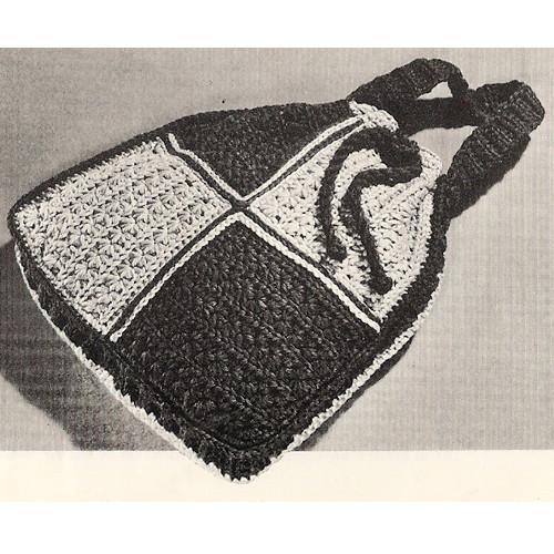 Crochet Checkerboard Tote Bag Pattern