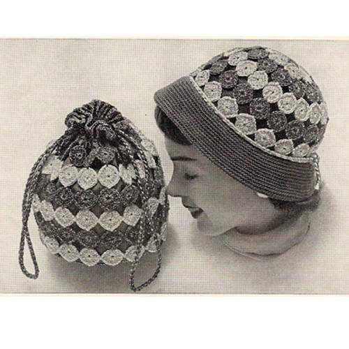 Vintage Crochet Daisy Medallion Hat and Bag Pattern