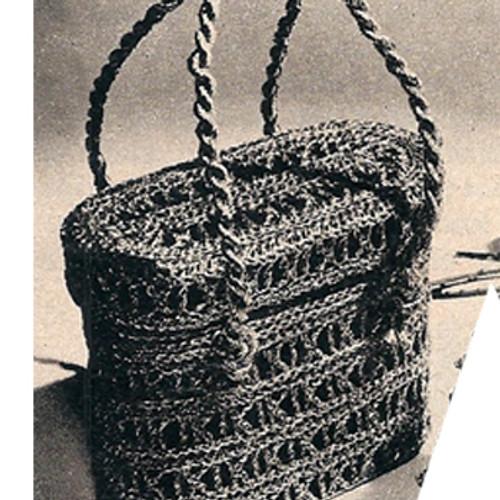 Small Crochet Basket Bag Pattern