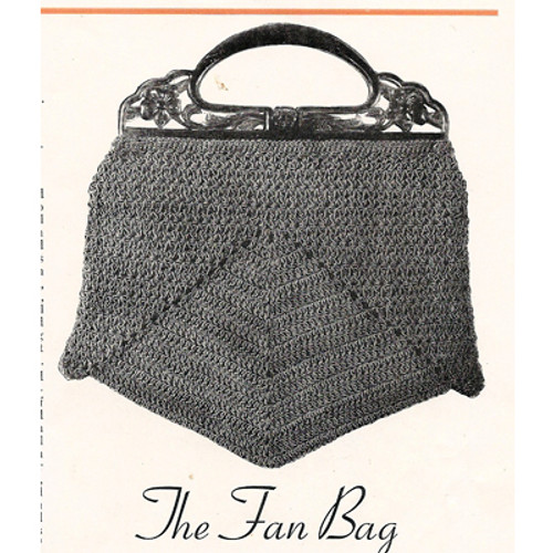 Vintage Fan Bag Crochet Pattern