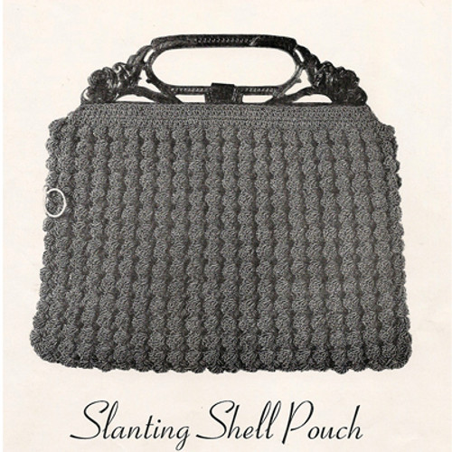 Crochet Slanting Shell Handbag Pattern