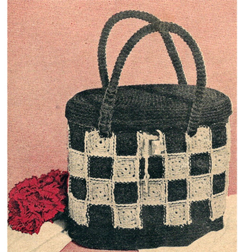 Checkerboard Handbag crochet pattern from The Workbasket