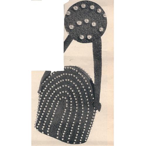 Free Crochet Pattern for Small Beaded Bag