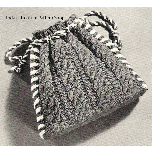 Crocheted Drawstring Pouch Pattern