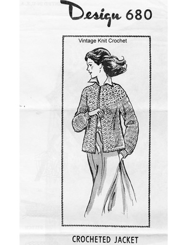 Small Crochet Jacket Pattern, Laura Wheeler 680