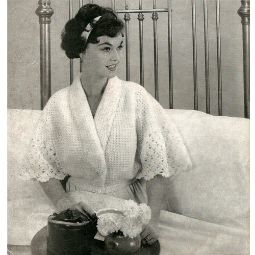 Lace Crocheted Bed Jacket Pattern