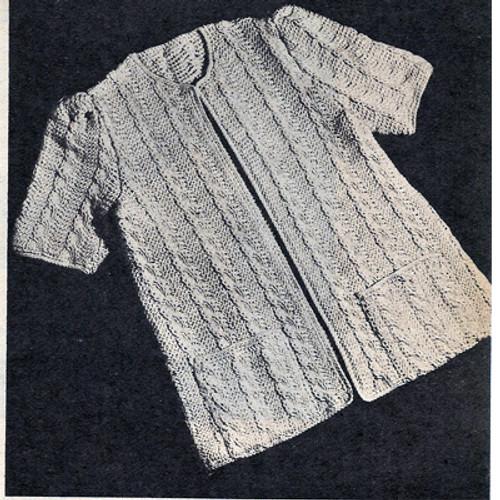 Simple Short Sleeve Crochet Cardigan Pattern